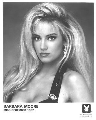 Barbara Moore Playboy 12/1992 B&W Playmate Promotions Headshot