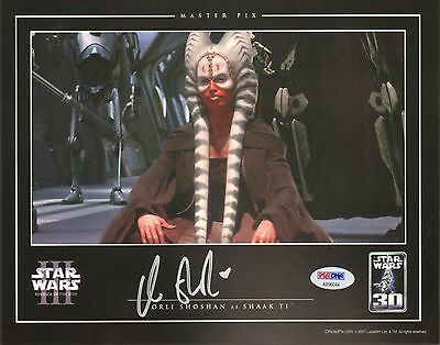 orli shoshan signed 8 x10 photo shaak ti star wars autographed in