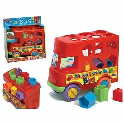 New Shape Sorter Sorting Bus Baby Toddler Activity Push Along Toy 12 Months Up