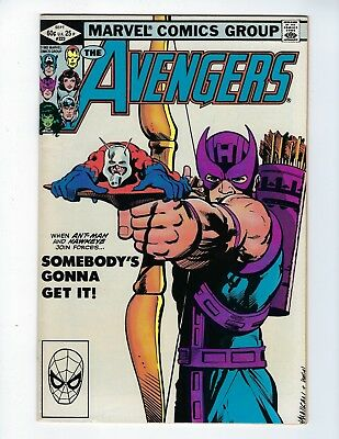 AVENGERS # 223 (ANT-MAN HAWKEYE Classic Cover, Sept 1982), VF