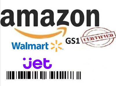 1000 UPC Numbers Barcodes Bar Code GS1 EAN Amazon Lifetime Guarantee