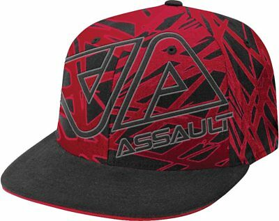 Polaris Black Red Assault Snowmobile Fitted Hat Cap One Size Fits All