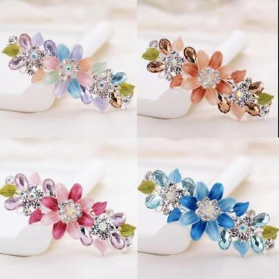 Women Retro Crystal Rhinestone Bow Flower Hairpin Hair Clips Jewelry 25 Styles
