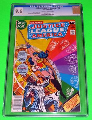 1978 JUSTICE LEAGUE OF AMERICA #151 CGC 9.6 OW-White NM+ Wonder Woman DC Giant