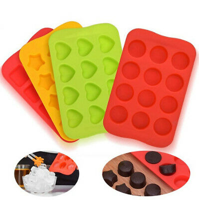 Chocolate Mold Silicone  Ice Cube Tray 12 Grids Ice Maker Jelly Pudding Mould