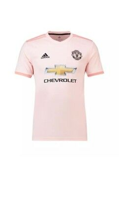 ADIDAS Manchester United FC 2018-19 pink adult Shirt Size L UK SELLER df6dcbe5529a