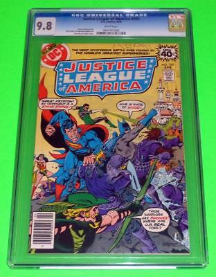 1979 JUSTICE LEAGUE OF AMERICA #165 CGC 9.8 White NM/MINT Green Arrow Top Census