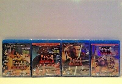Star Wars Rebels - the complete season 1,2,3 & 4 [Blu-ray] *NEW*