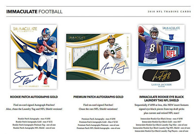 2018 Panini Immaculate Collection Football Live Random Player 1 Box Break