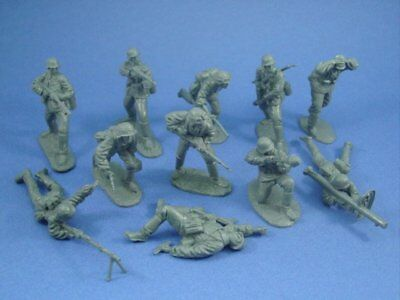 CTS WWII German Infantry Heavy Weapons Set 11 Plastic Toy Soldiers FREE SHIP