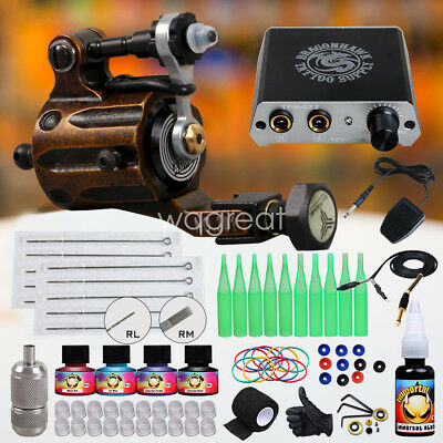 Dragonhawk Tattoo kit Airfoil V2 Rotary Tattoo Machine Gun for Tattoo Artists