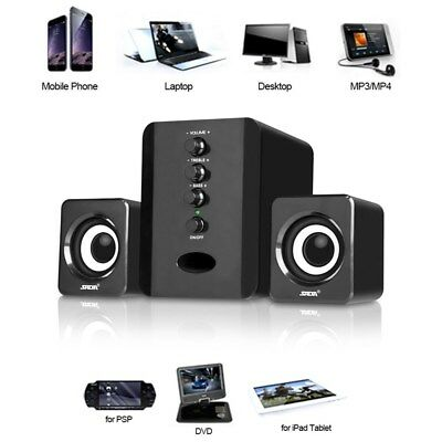 SADA USB 2.1 Wired Mini Computer Speakers Stereo Music Player For Laptop PC P8S3