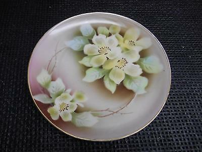 Antique WELMAR Germany Hand-Painted CHINA PLATE Floral Motif Old Vtg