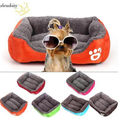 Animals Dog Bed Paw Print Washable Soft Rectangle Pet Bed S5DY