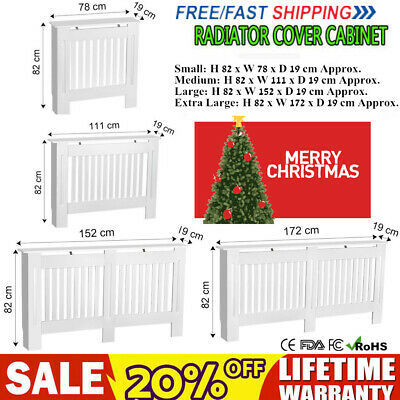 White Radiator Cover Cabinet Wood MDF Traditional Cross Design Modern S-XL Sizes