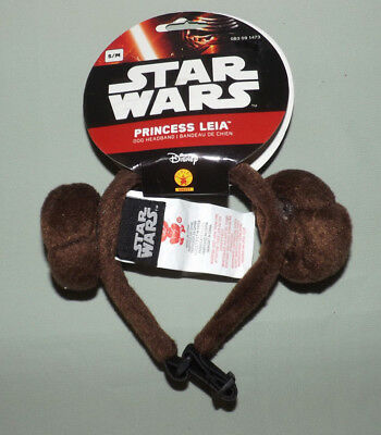 Disney Star Wars Princess Leia Dog/cat Headband Small/medium Adjustable Nwt