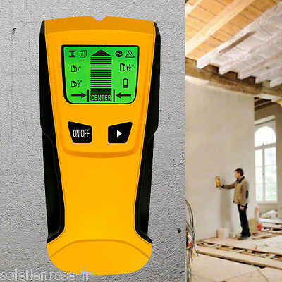 Floureon 3 in 1 LCD screen Stud Center Finder Metal/AC live wire Detector NEW
