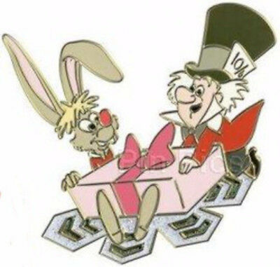 Disney Pin 81075 Snowflake Alice in Wonderland Mad Hatter March Hare LE 135 !
