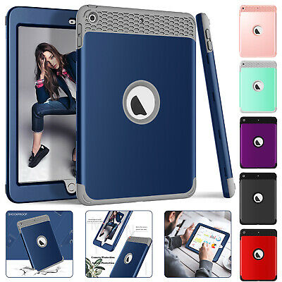For iPad 9.7 2018 Shockproof Case Heavy Duty Hard Plastic Armor Cover Pro Mini 4