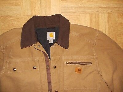 50ccef19bb Carhartt Brown Mens Medium M Duck Chore Coat Blanket Lined Jacket ~ EUC