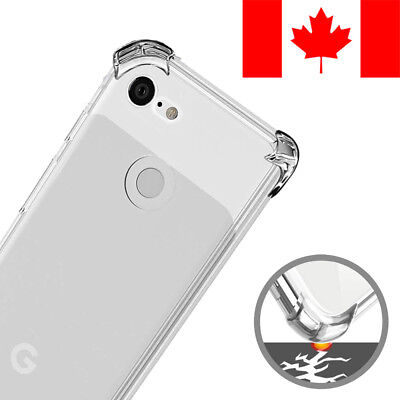 Shockproof Clear Transparent Soft Case Cover For Google Pixel 3 Xl