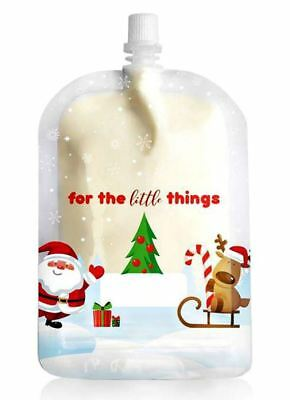 NEW Sinchies Xmas Christmas Baby Food Squeeze Pouches Reusable 150ml 5 Pack Bags