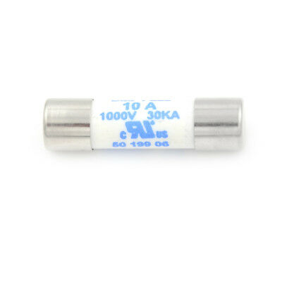 Multimeter 10 x 38mm 1000V 10A Cylinder Ceramic Fuse White JDUK
