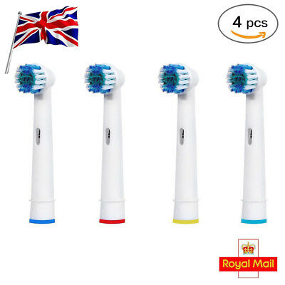 4 Brush Heads Fit Oral-B Flexisoft Toothbrush Replacement Refill Heads Uk Stocks