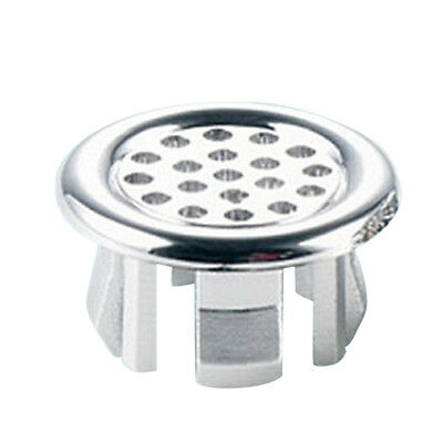 Round Overflow Cover Tidy Trim Chrome For Bathroom Basin Sink Spare Replacement