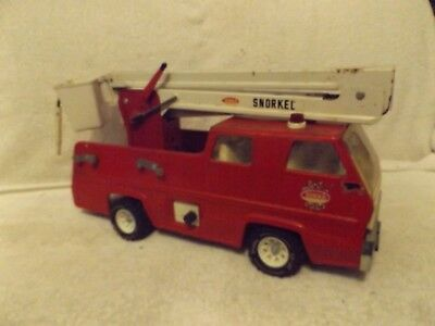 VINTAGE 1960s TONKA PRESSED STEEL SNORKEL FIRE TRUCK--VERY NICE THRU-OUT