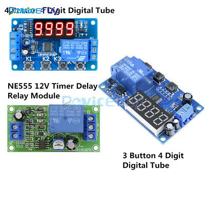 DC12V Trigger Cycle Delay Timer Control Automation Relay Switch Module