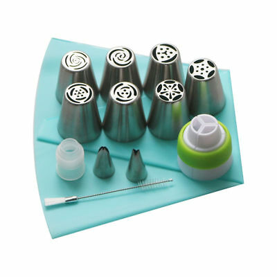 Russian Piping Tips 13 Pcs Tulip Flower Icing Piping Nozzles Cake Decor Tips Set