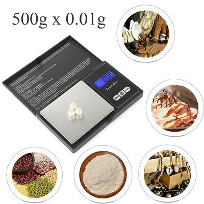 500g x 0.01g Mini Precision Digital Scales Jewelry Reloading Kitchen Food Scales