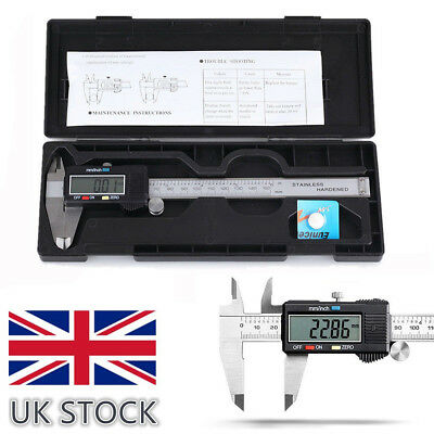 "6"" 150MM LCD Digital Electronic Vernier Caliper SS Micrometer Gauge+Case+Battery"