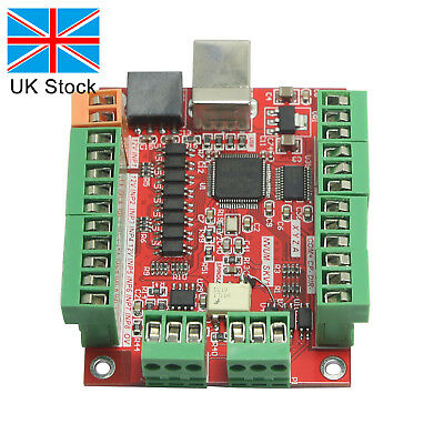 CNC USB MACH3 Breakout Board 4Axis Driver Motion Controller for Stepper Motor UK