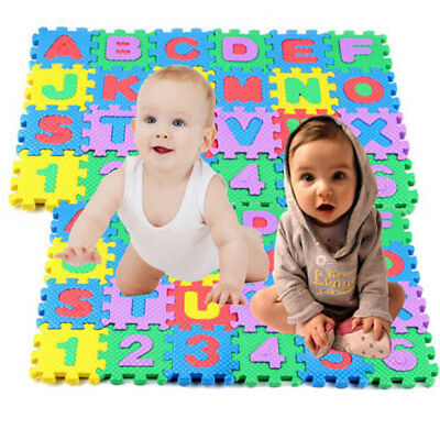 UK Baby Crawling Puzzle Mat Soft EVA Foam Kids Play Carpet Floor Blanket Carpet