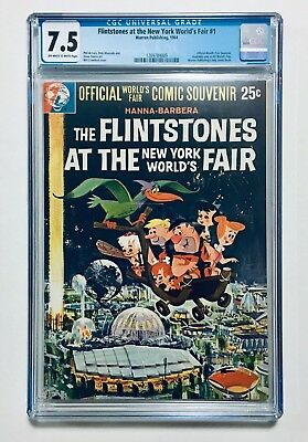 FLINTSTONES AT THE NEW YORK WORLD'S FAIR #1, 1964, Official Souvenir, CGC 7.5