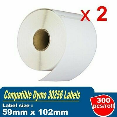 2 Generic Dymo SD30256 Shipping Label for LabelWriter 450 Turbo 59mm x 102mm