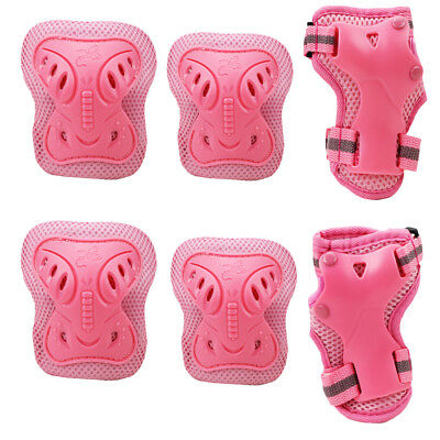 6 PCS Knee Pads Sport Safety Protective Gear Guard for Children Skateboard