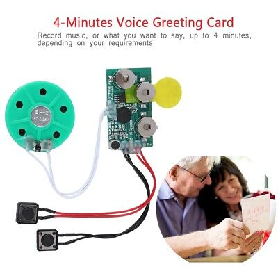 4 Min Recordable Voice Module For Greeting Card Music Sound Talk Chip Musical