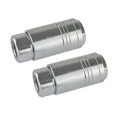 Air Line Hose Connector Fitting Female Quick Release One Touch 1/4 inch 2pk FT