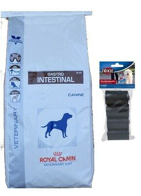 14kg Royal Canin  Gastro Intestinal GI 25 Veterinary Diet  + 80 Stk. Kotbeutel