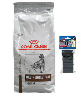 12kg Royal Canin Gastro Intestinal LF22 Low Fat + 80 Stk. Kotbeutel
