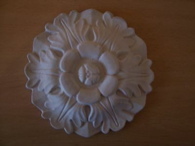 Decorative flower leaf round rubber latex mould mold pediment embellishment new