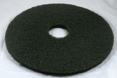 "17"" Green Floor Scrubbing Pad for Commercial Use. Single pad."