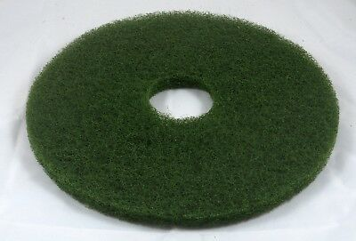 "15"" Green Floor Scrubbing Pad for Commercial Use. Pack of 5."