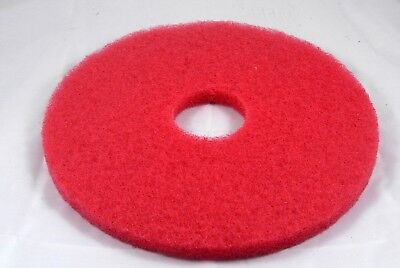 "15"" Red Floor Scrubbing Pad for Commercial Use. Pack of 3."