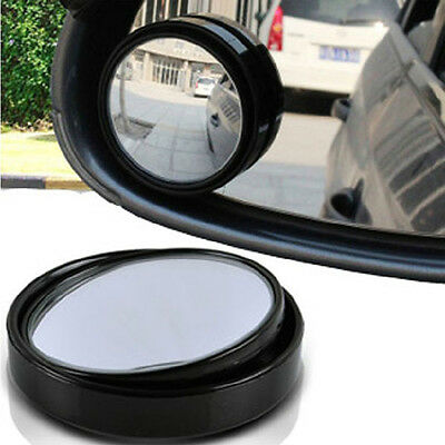 Blind Spot Mirror x 2 Rimless HD Glass Wide Angle 360° Convex Mirrors Rear View
