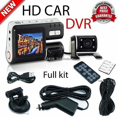 Dual Car Camera True HD 1080P G-sensor Recorder Crash H 264 Dash DVR Video Hot