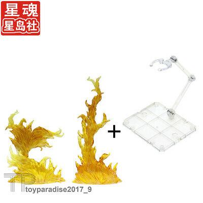 S.H.Figuarts Tamashii EFFECT BURNING FLAME & Stand Holder Fit SHF Figma Yellow